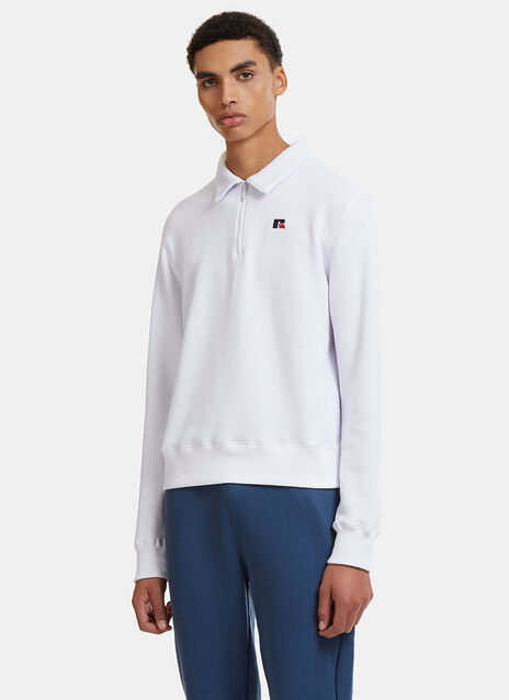 Carnegie Collar Half-Zip Sweater