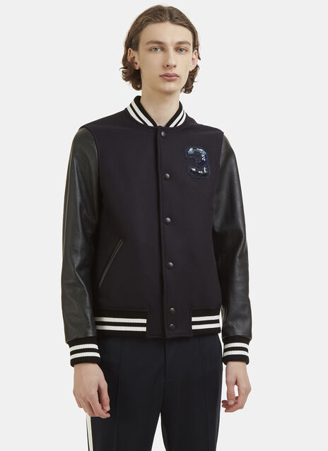 Logo Wool varsity Jacket