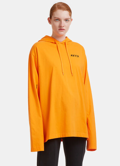 Oversized P.E.T.S. Printed Hooded Sweater