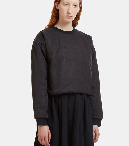 Oversized Cropped Puff Jumper