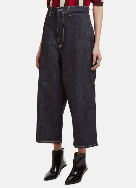 Marni Oversized Cropped Denim Pants