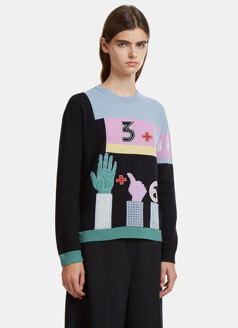 Valentino Counting Knit Sweater