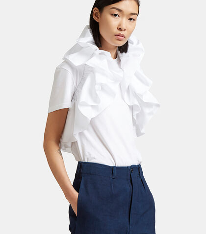 Meticulous Ruffled Cropped Top