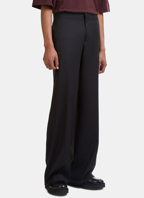 Low-Rise Wide Leg Tailored Pants