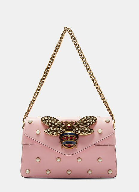 Broadway  Pearl Studded Bee Clutch Bag