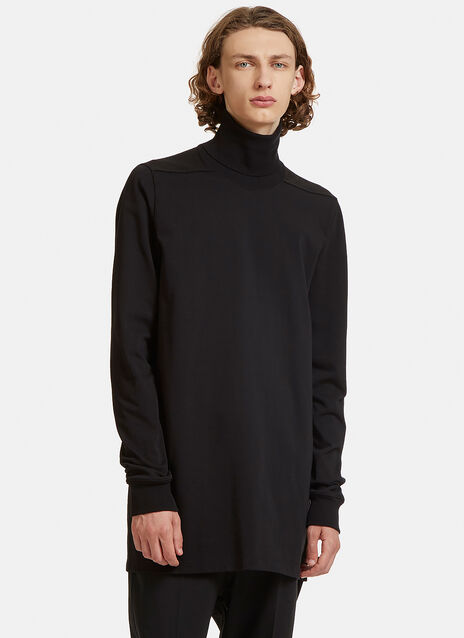 Long Ribbed Roll Neck Sweater
