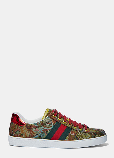 Floral Jacquard Sneakers