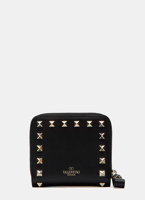Pyramid Stud Zipped Wallet