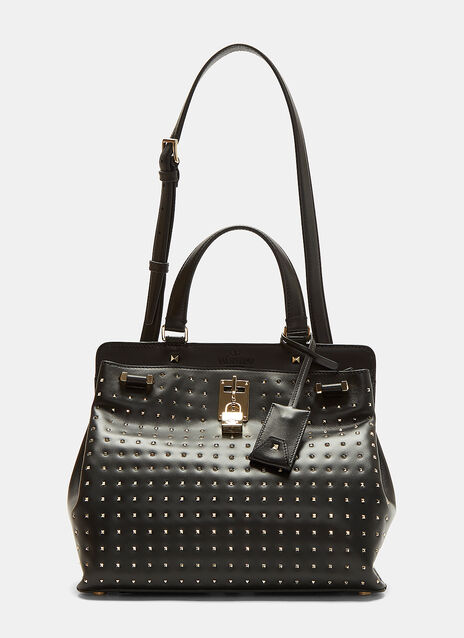 Medium Padlock Studded Handbag