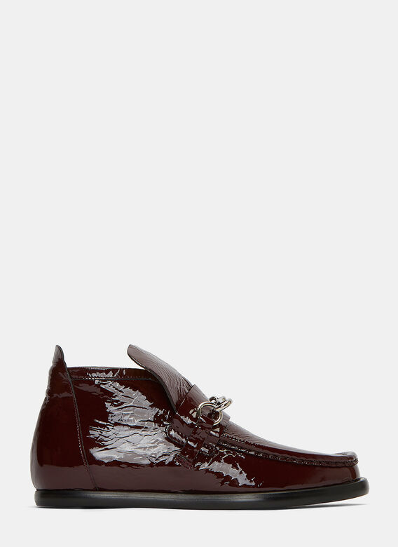 Acne Studios Kerin Patent Loafer Boots