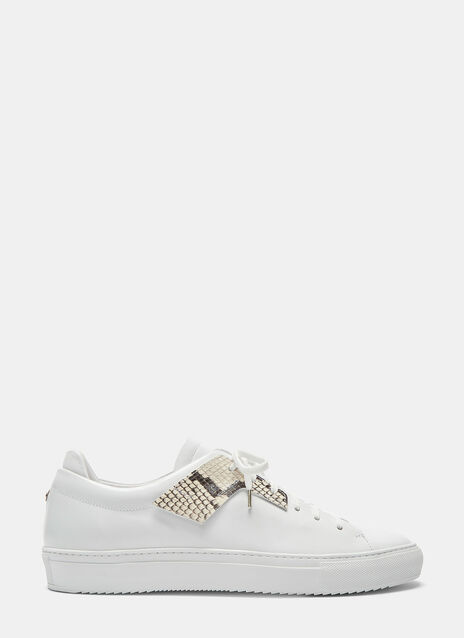 Snakeskin Eyestay Low-Top Sneakers