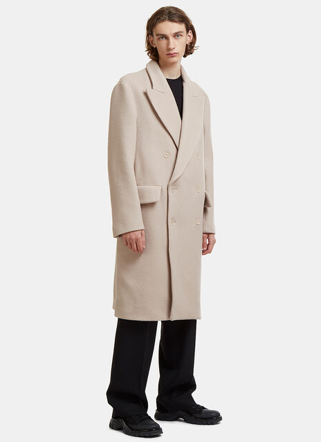Acne Studios Double-Breasted Rover Bouclé Coat