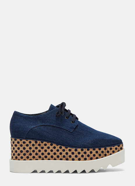 Goret Denim Cork Platform Shoes