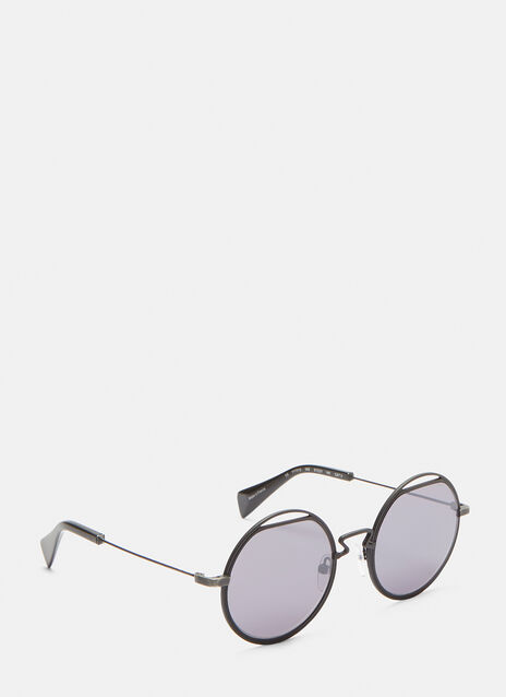 YY7012 Cut-Out Round Sunglasses