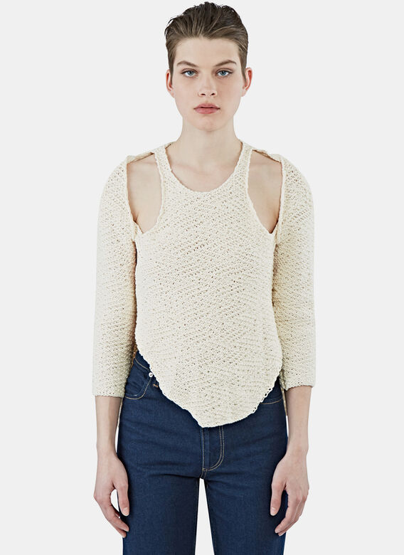 Eckhaus Latta Halt Cream Sweater