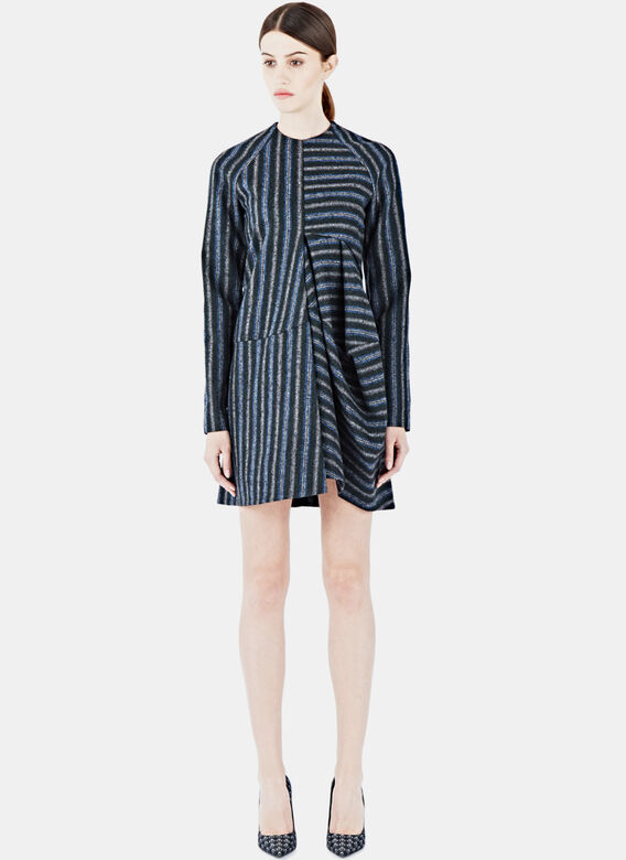 Gabriele Colangelo Striped Long Sleeved Dress