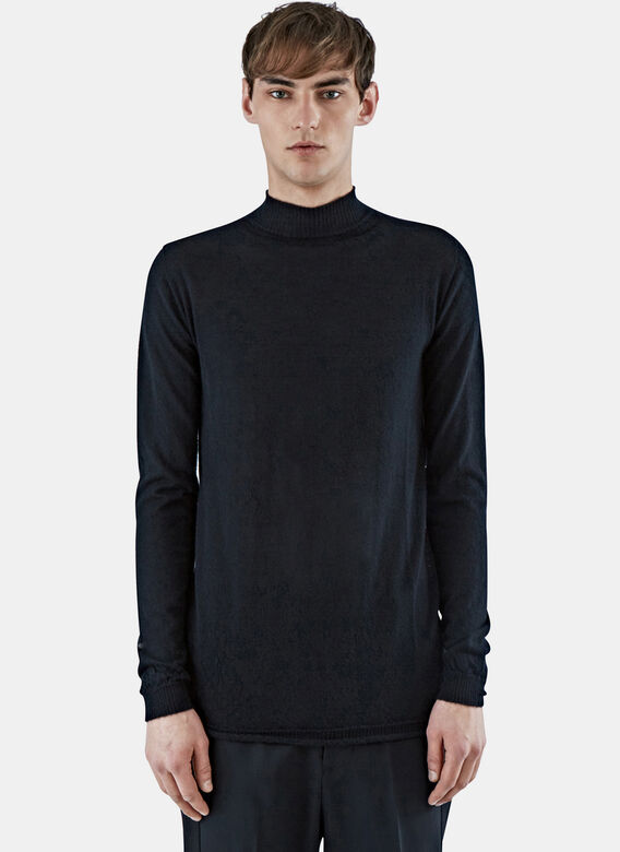Rick Owens Level Lupetto Cashmere Sweater