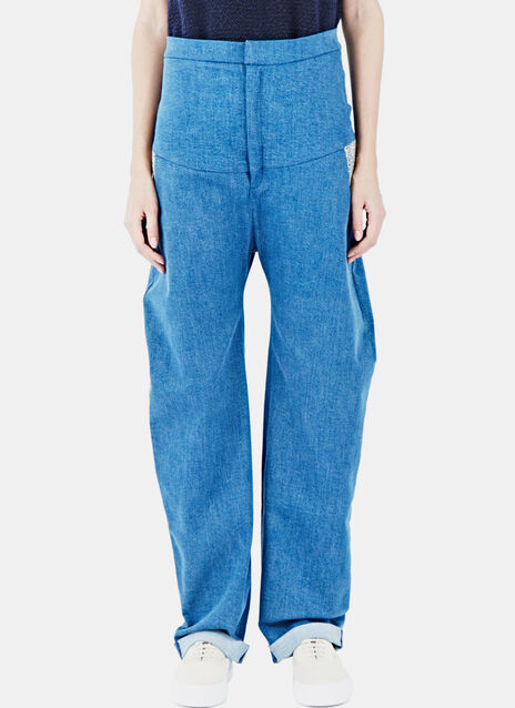 Woven Pocket Jeans