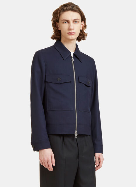 Twill Patch Pocket Zip-Up Jacket