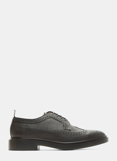 Longwing Pebble Grained Brogue Shoes