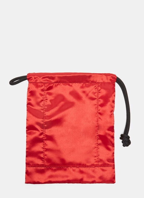 Knotted Cord Satin Textile Pouch