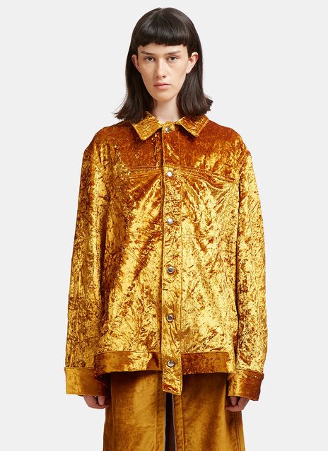 Oversized Metallic Velvet Jacket