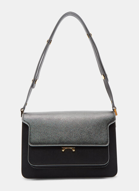 Medium Leather Trunk Shoulder Bag