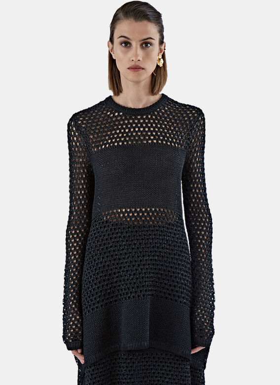 Proenza Schouler Long Open Stitched Top
