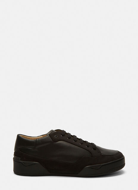 Panelled Leather Low-Top Sneakers