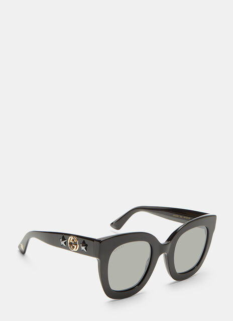 Oversized Star-Studded Square Sunglasses