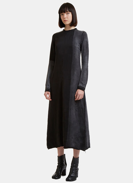 Long Sleeve Treated Zip Dress