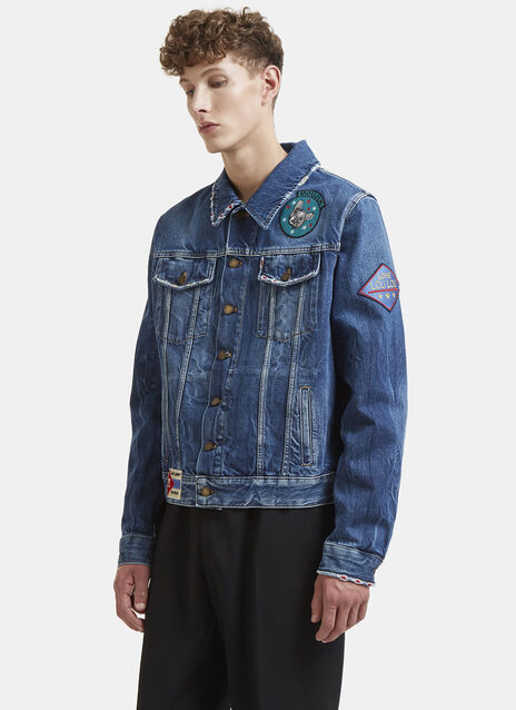 Multi-Patch Denim Jacket