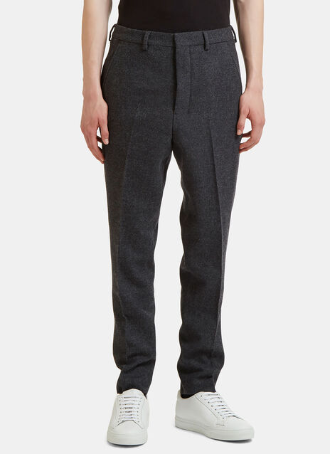 Carrot Fit Wool Pants