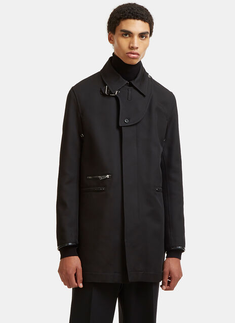 Zipped Pocket Twill Coat