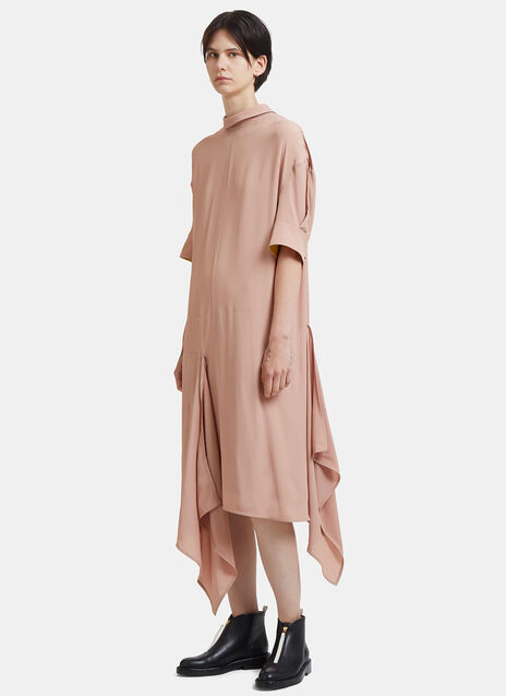Oversized Asymmetric Roll Neck Dress