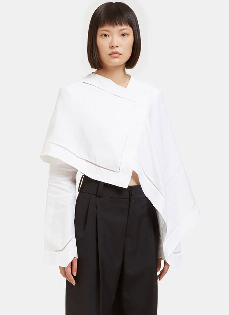 Asymmetric Cropped Tent Shirt