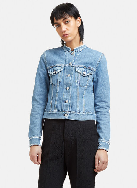 Top Ind Frayed Denim Jacket