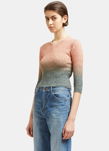 Riva Mouliné V-Neck Sweater