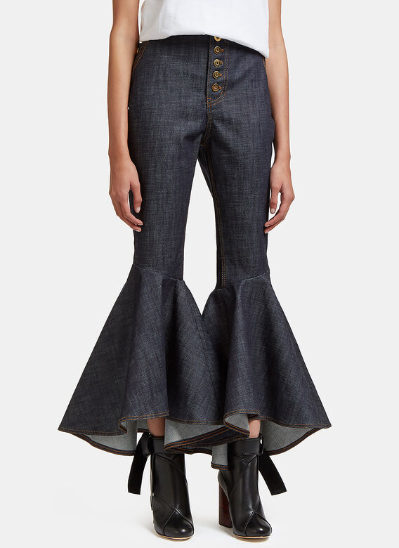 Ellery Hysteria Cropped Flare Jeans