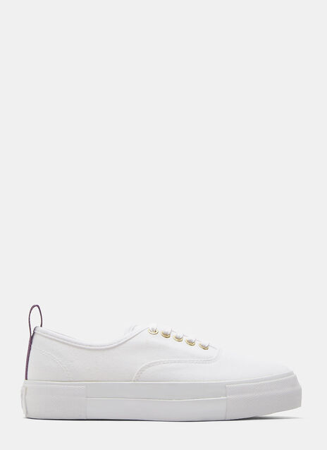 Mother Canvas White Sneaker