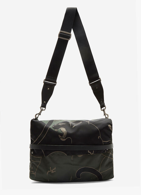 Camouflage Panther Print Messenger Bag