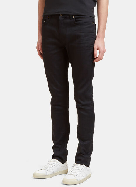 5 Pocket Raw-Edge Skinny Jeans