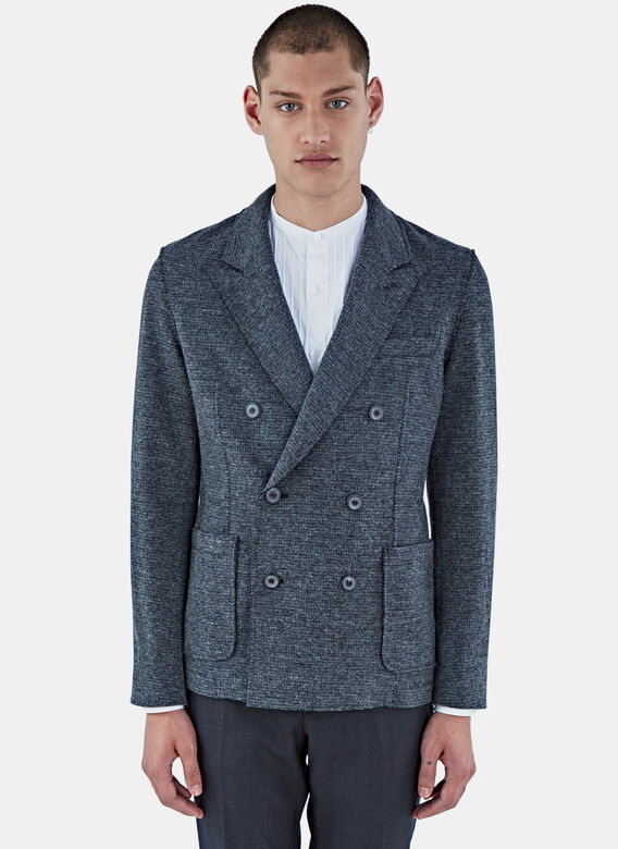 Lanvin Deconstruted Dble Breasted Jkt Jersey Ra