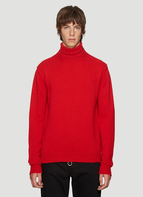 라프 시몬스 Raf Simons Turtle Neck Sweater in Red