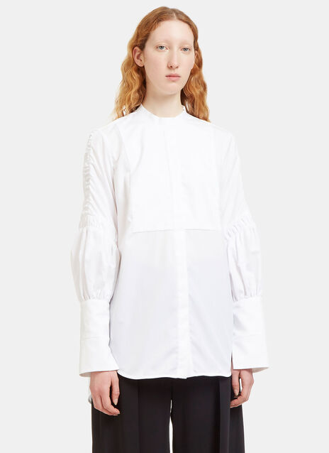 Surreal Ruched Sleeve Bib Shirt