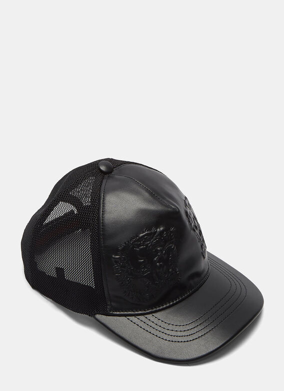Gucci Leather Embossed Tiger Cap