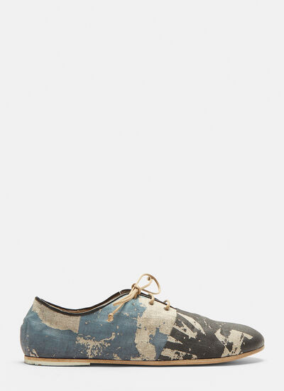 Marsell Tessuto Canvas Lace-up Shoes
