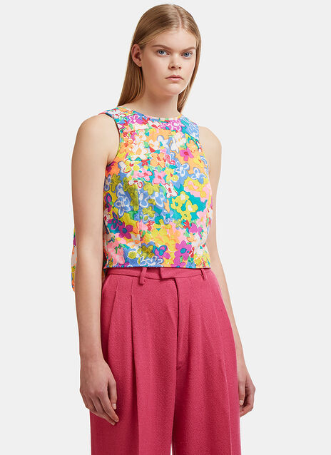 Eckhaus Latta Pillow Back Sleeveless Blouse