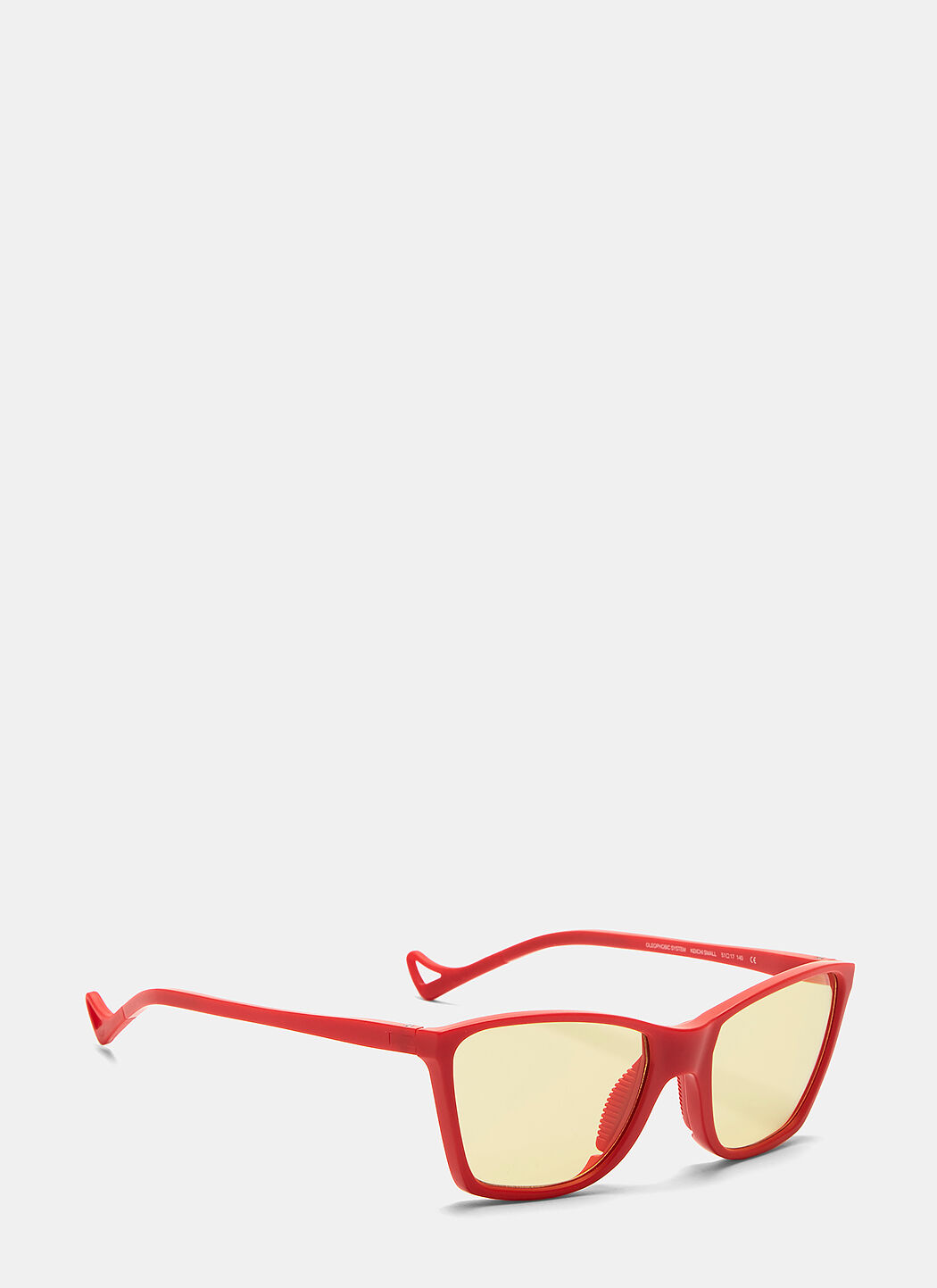 DISTRICT VISION Keiichi Small Sunglasses in Red and Yellow