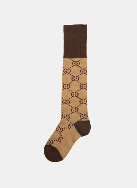 GG Patterned Knit Socks